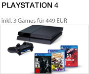 PlayStation 4 - Konsole inkl. DriveClub, Little Big Planet 3 und The Last of Us: Remastered