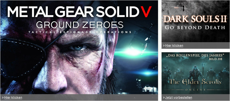 Metal Gear Solid Ground Zeroes, Dark Souls II, The Elder Scrolls Online