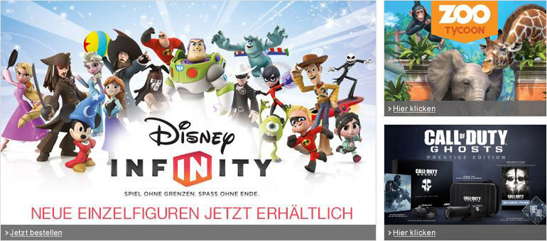 Disney Infinity, Zoo Tycoon, Call of Duty
