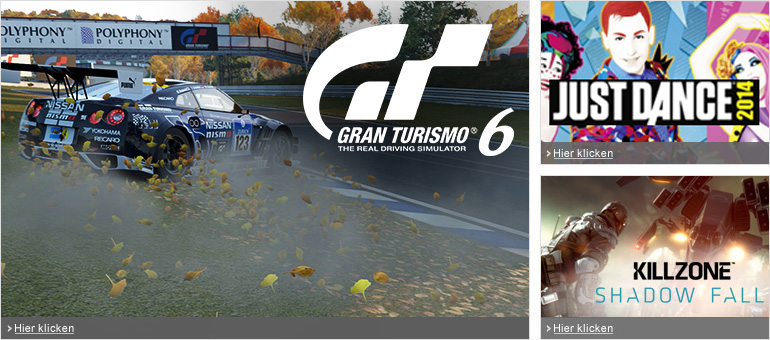 Gran Turismo 6, Just Dance 2014, Killzone: Shadow Fall