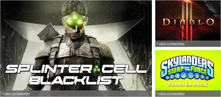 Splinter Cell Blacklist, Diablo III, Skylanders Swap Force und mehr Games-Highlights