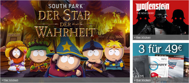 South Park, Wolfenstein, Dark Souls II