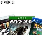 3 Games bestellen, 2 bezahlen