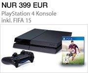 Sonderangebot: PS4 Konsole inkl. FIFA 15 für nur 399 EUR
