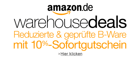 10% Sofortgutschein bei Amazon Warehouse Deals