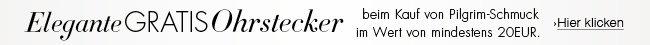 Gratis Herz-Ohrstecker beim Kauf von Pilgrim Schmuck im Wert von mindestens 20 EUR mit Verkauf und Versand durch Amazon