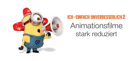 Animationsfilme stark reduziert