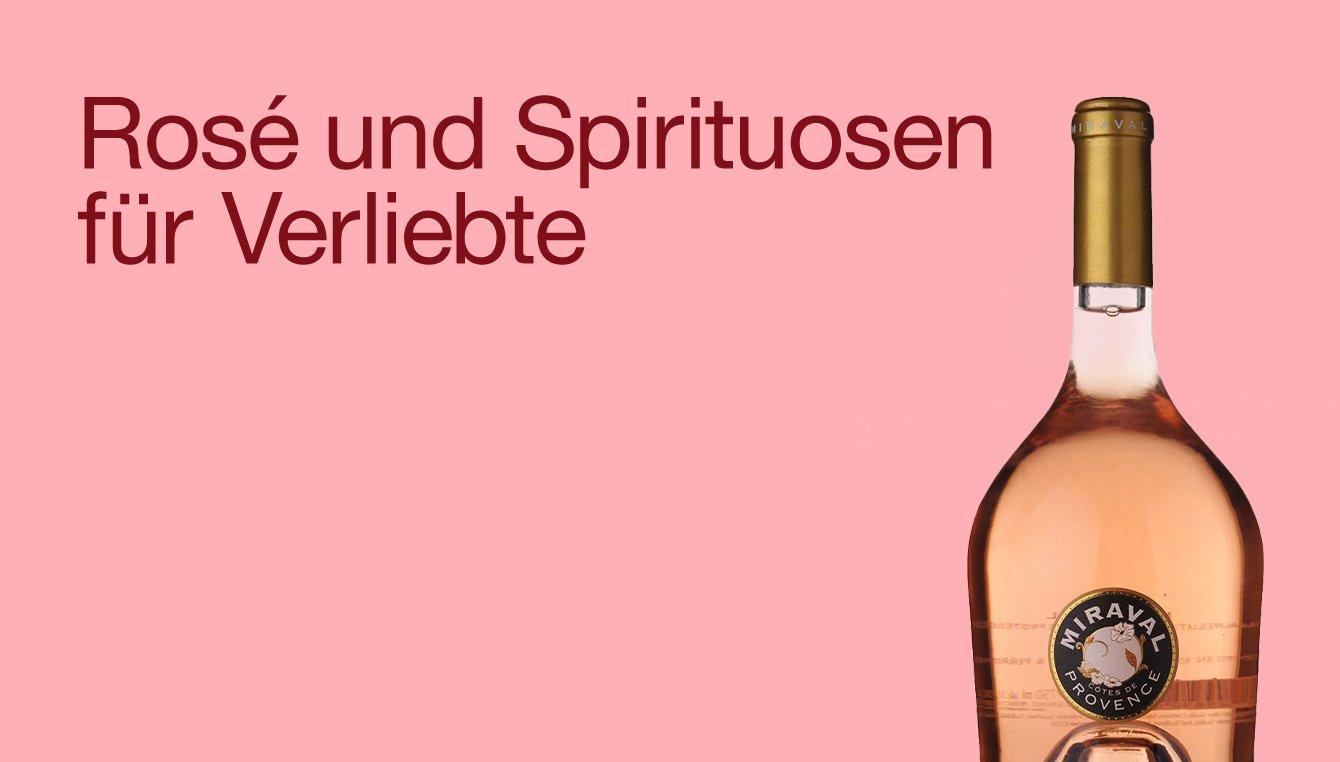 Rosé und Spirituosen für Verliebte