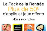 Le Pack de la Rentr�e : 24 applis offertes, plus de 50 euros d'�conomies, jusqu'au 4 septembre