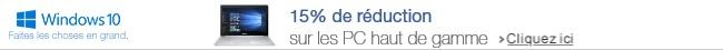 Profitez de 15% de réduction sur une sélection de PC haut de gamme.