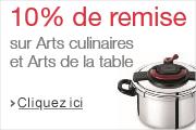 -10% supplémentaires sur une sélection Arts culinaires et Arts de la table
