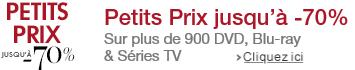 Petits Prix DVD, Blu-ray et Séries TV jusqu'à -70%