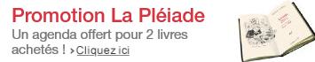 Promotion livres La Pléiade : un agenda illustré par Joann Sfar gratuit offert pour 2 livres achetés