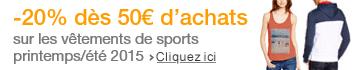 -20% sur les vêtements de sport