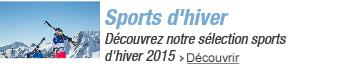 Sélection sports d'hiver 2015