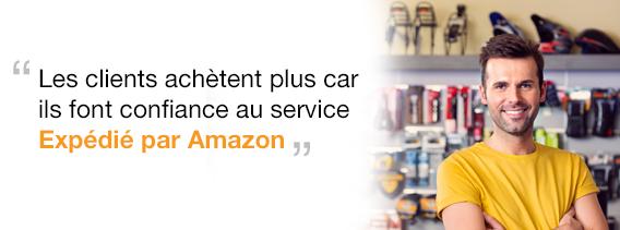 Avec Expédié par Amazon, nous disposons clairement d'un avantage concurrentiel