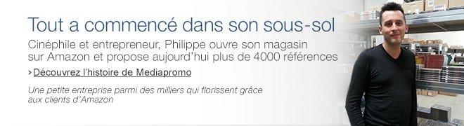Cin�phile et entrepreneur, Philippe ouvre son magasin sur Amazon et �crit le script de son aventure