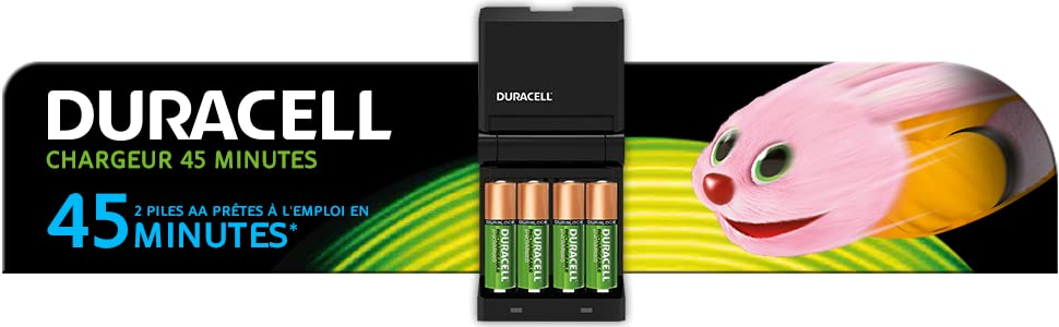Duracell chargeur 45 minutes