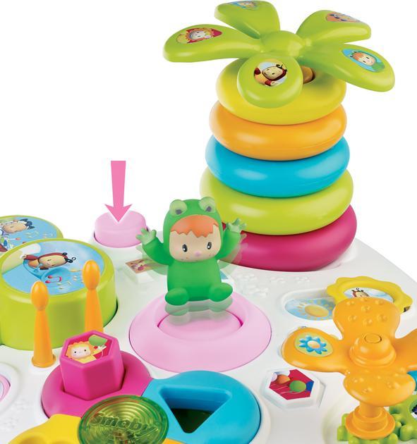 smoby 211170 jouet d 39 veil cotoons table d 39 activit s. Black Bedroom Furniture Sets. Home Design Ideas