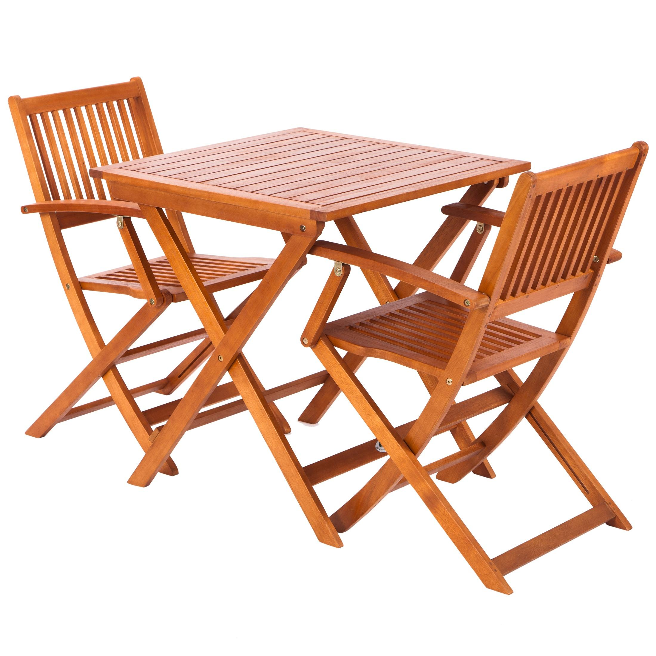 Salon de jardin eucalyptus qualite for Table jardin 4 personnes