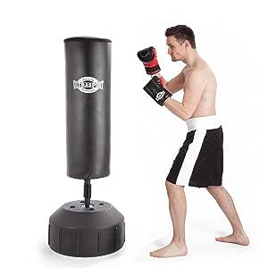 ultrasport sac de boxe autoportant rouge noir 70 x 170. Black Bedroom Furniture Sets. Home Design Ideas