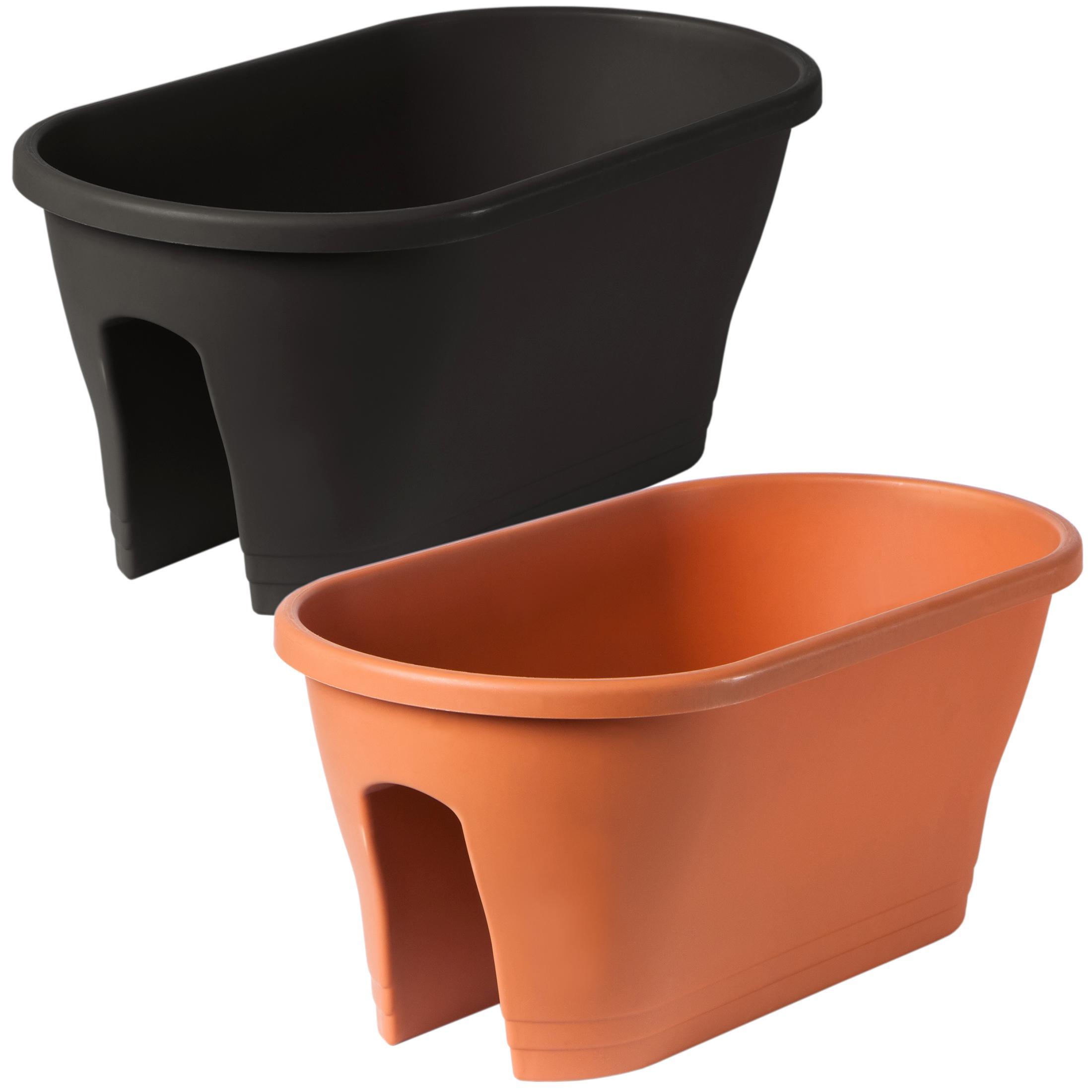ultranatura cache pots capri pour balcon et cl tures. Black Bedroom Furniture Sets. Home Design Ideas