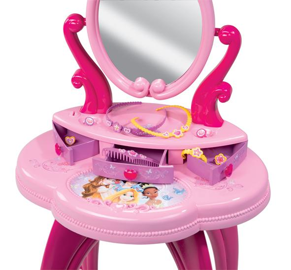smoby 024232 bijou et cosm tique coiffeuse disney princesses jeux et jouets. Black Bedroom Furniture Sets. Home Design Ideas