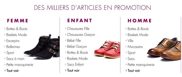Promotions Chaussures et Sacs