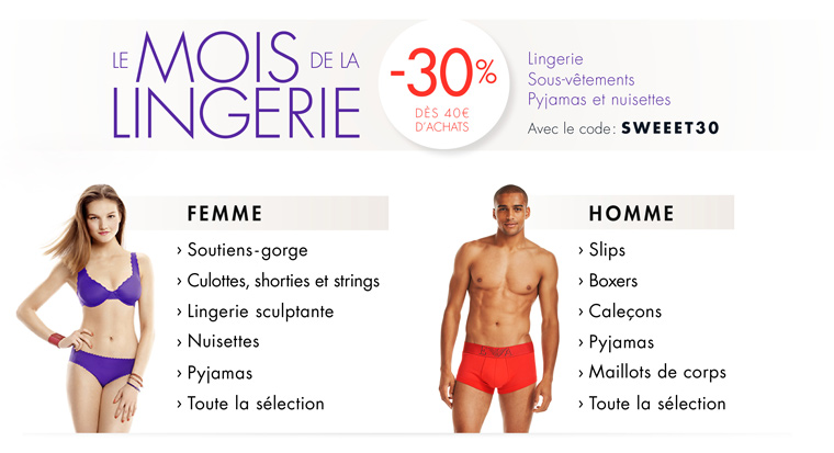 Mois de la lingerie -30%