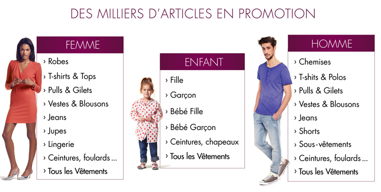 Promotions Vêtements