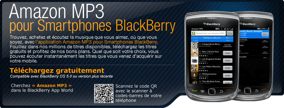 Amazon MP3 sur BlackBerry