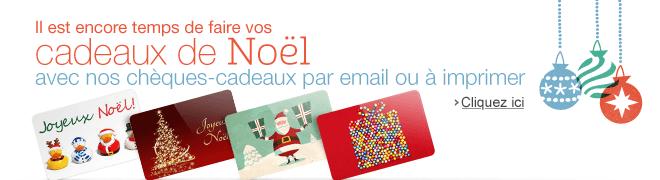 Il est encore temps de faire vos cadeaux de No�l avec les ch�ques-cadeaux Amazon par email ou � imprimer