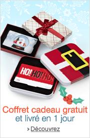 Cartes cadeaux de Noël dans un coffret gratuit et livré en 1 jour