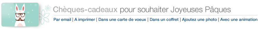 Chèques-cadeaux Amazon.fr pour souhaiter Joyeuses Pâques