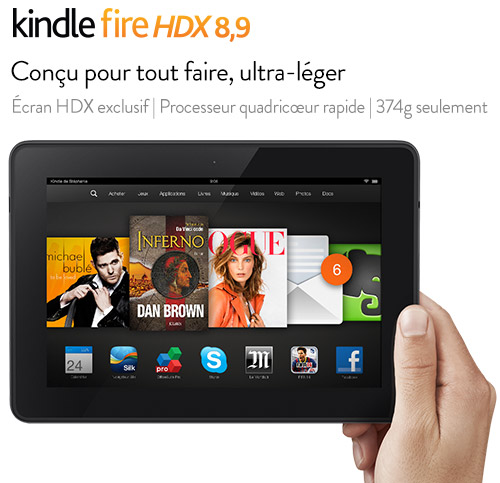 Kindle Fire HDX: quick tour