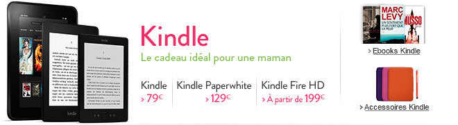 Kindle, le cadeau idal pour une maman