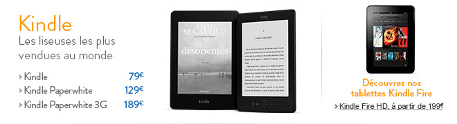 Kindle : les liseuses les plus vendues au monde