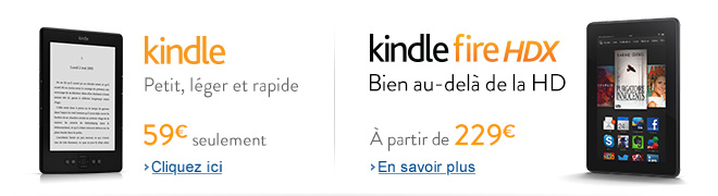 Kindle et tablette Kindle Fire HDX