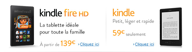 Kindle et tablette Kindle Fire HD