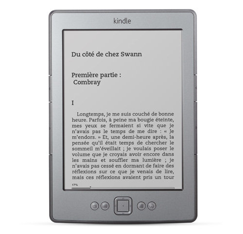 Liseuse Kindle : l'appareil vu de face