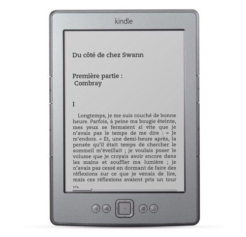 Liseuse Kindle : l'appareil vu de face