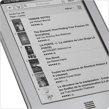 Affichage de la boutique Kindle sur la liseuse Kindle Touch. Visitez la boutique Kindle directement sur votre appareil.