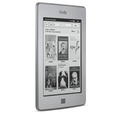 Liseuse Kindle : l'appareil vu sur le c�t�