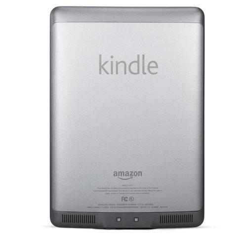 Liseuse Kindle Touch : l'appareil vu de dos