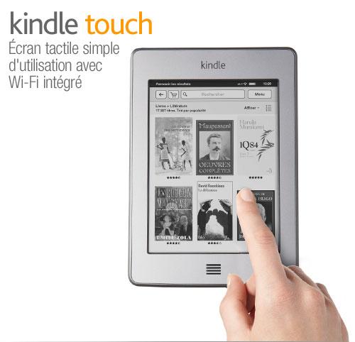Liseuse Kindle Touch : courte pr�sentation