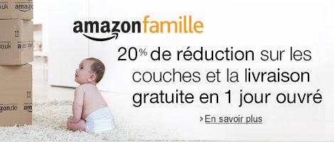 Amazon Famille : -20% sur les couches et livraison en 1 jour ouvr�