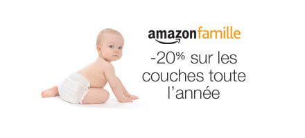 Amazon Famille : -20% sur les couches toute l'année