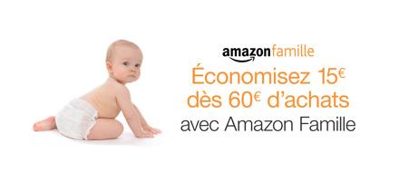 Amazon Famille : 15€ offerts pour 60€ d'achats