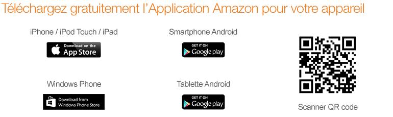 Téléchargez gratuitement l'Application Amazon