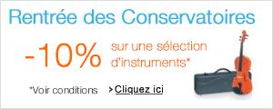 Promotion: -10% sur une s�lection d'instruments de musique